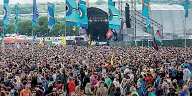 The Glastonbury Festival draws more than 177,000 people a day. Photo: Andrew Allcock