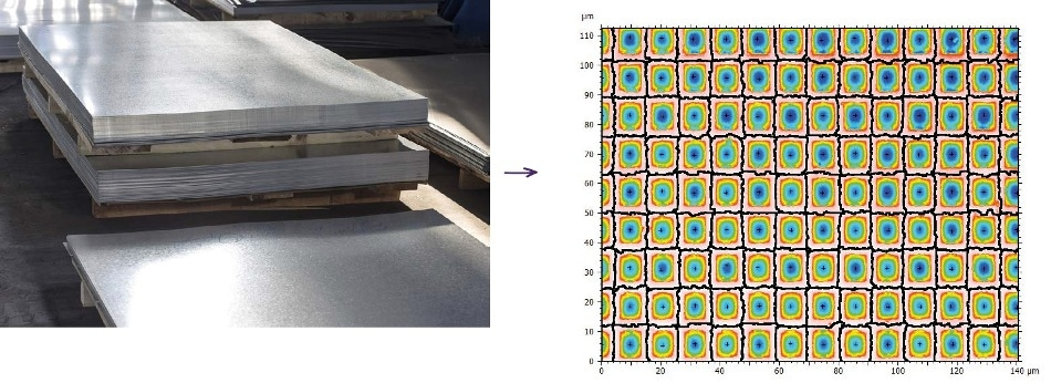 Steel sheets: obtaining optimum paint adhesion and large-scale surface smoothness