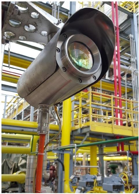 Senscient ELDSTM laser-based open path gas detector (OPGD).