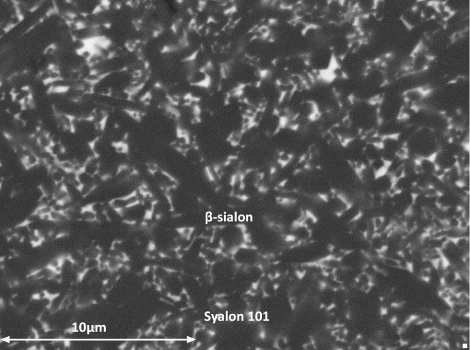 Syalon 101 (ß-SiAlON) microstructure