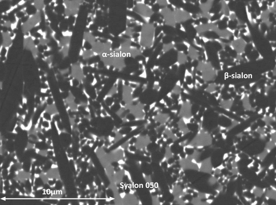 Syalon 050 (a /ß-SiAlON) microstructure