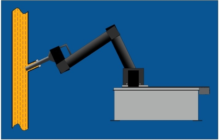 Schematic representation of the use of the Durasens DP-R Series Diamond ATR Fiberless Probe for in situ real-time stream monitoring