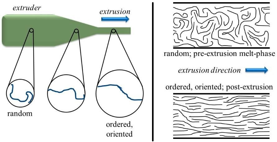 Schematic representation of the extrusion process.