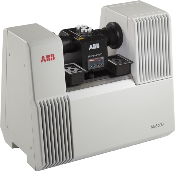 MB3600 spectrometer used with the ABB universal vial holder