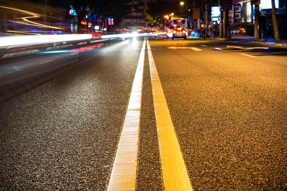 Nightime road