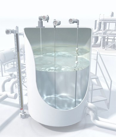Level Measurement defines the position of the level relative to the top or bottom of the process fluid storage vessel. A variety of technologies can be utilized, depending on the characteristics of the fluid and its process conditions.