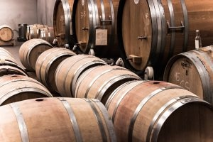 Carbon dioxide is produced during some fermentation processes such as wine making.