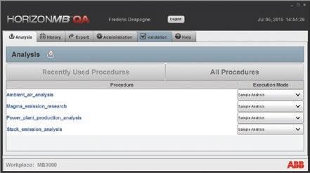 Horizon QA operator interface for routine analysis