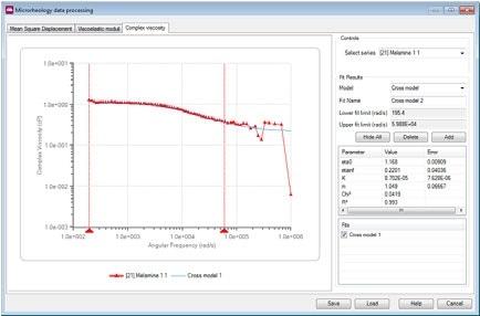 Model fitting using the Microrheology utilities