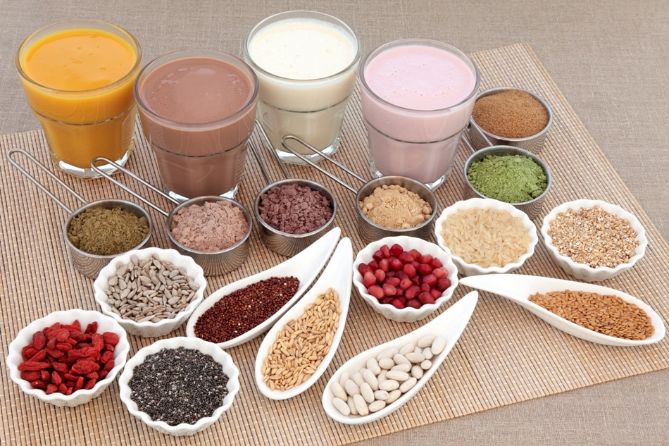 Food protein powders