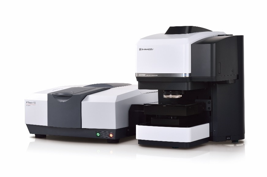 IRTracerTM-100 Fourier Transform Infrared Spectrophotometer (Left) and AIM-9000 Infrared Microscope (Right)