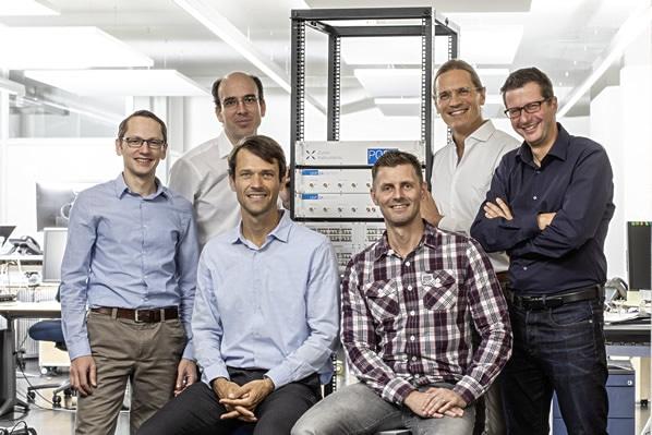 Zurich Instrument's core quantum team (from top left): Bruno Küng (Application Scientist), Jürg Schwizer (Head of Software), Sadik Hafizovic (CEO), Niels Haandbaek (Senior Engineer), Jan Benhelm (Head of Marketing), and Adrian Messmer (VP R&D).