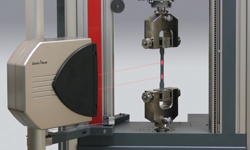 A technology only offered by Zwick: Non-contact extensometers according to the laser speckle principle.