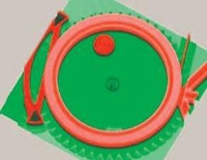 Topography measurement of a micro gearwheel