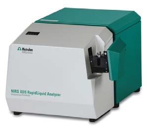 The NIRS XDS RapidLiquid Analyzer was used for spectral data acquisition over the wavelength range from 400 nm to 2500 nm.