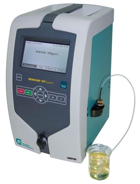 MINIVAP VPXpert—Expert vapor pressure testing at highest temperatures