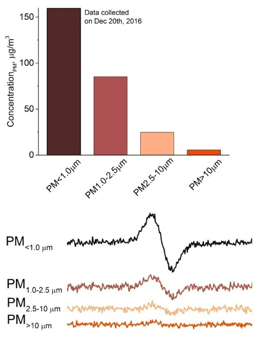 EPR study on airborne PM in Beijing during haze events.