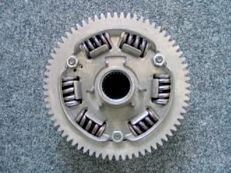 Spring package for the clutch torsional vibration damper.