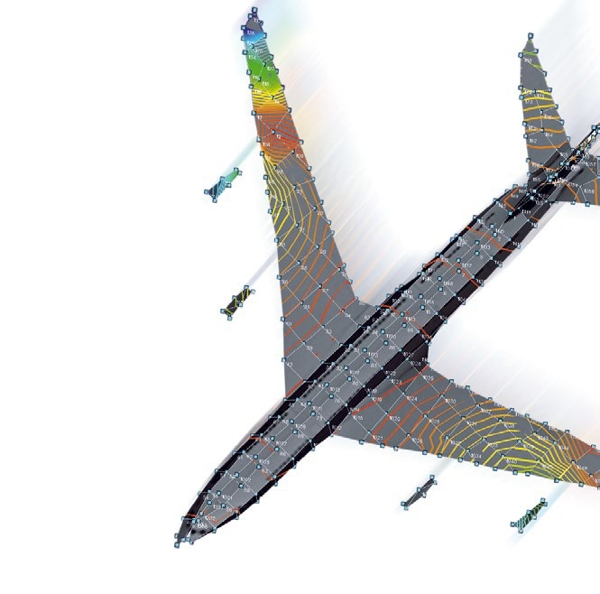 Full-field measurement with high spatial resolution on large components or complete aerospace structures.