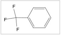 1H (top) and 19F (bottom) spectra of trifluorotoluene