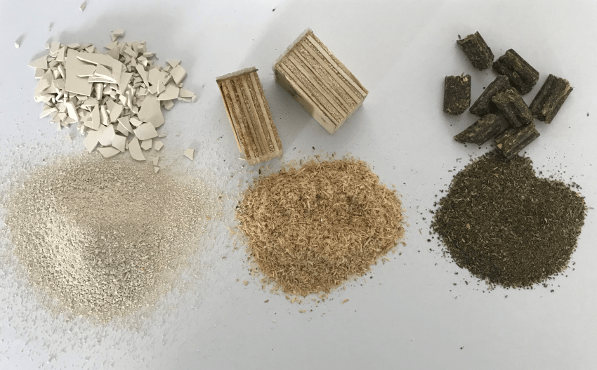 Samples of plastic, wood- and feed pellets: Comminuted with the rotor with notched edges and a sieve cassette with 0.75 mm trapezoidal perforation. Image Credit: FRITSCH GmbH – Milling and Sizing