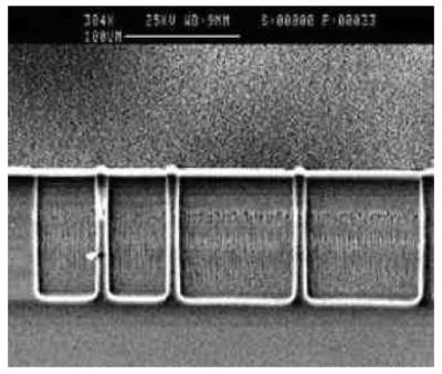 110 µm deep etch