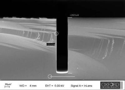 Through wafer etch with smooth sidewalls