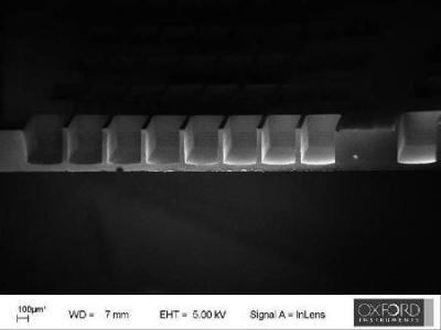 Through wafer etch
