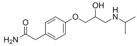 Atenolol (Tenormin) molecular structure.