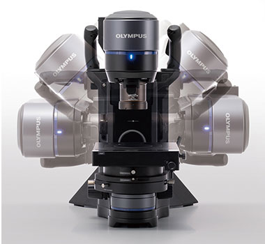 Tilting head of the DSX1000 microscope.