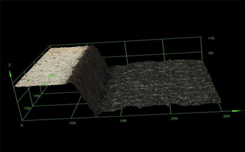 Well shape and surface integrity inspected after laser engraving. High-resolution 3D imaging with the DSX500 enables inspection of well morphology and surface integrity, optimizing laser engraving parameters and avoiding surface damage.
