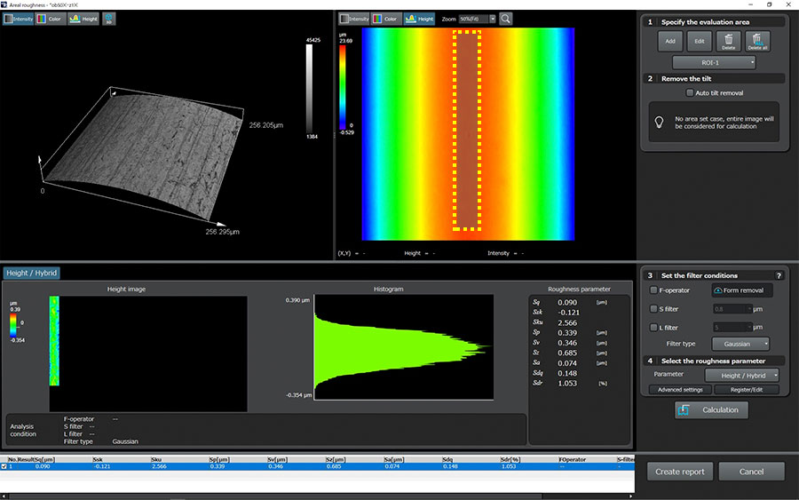 Using a Laser Scanning Confocal Microscope to Measure Surface Roughness