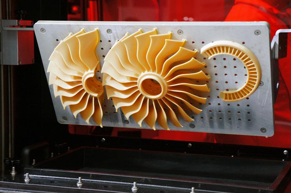 jet turbine propeller - fan ,3D printed making