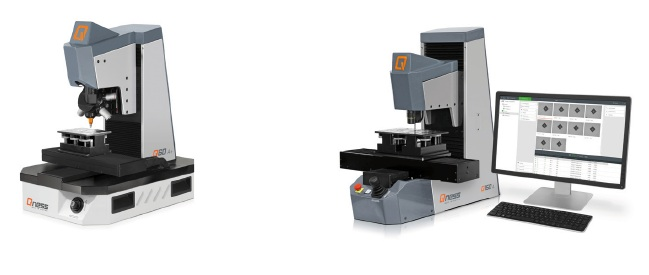 QNESS Q10/30/60 (left) and Q150 A and A+ (right) hardness testers.