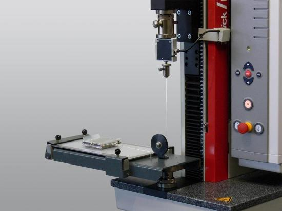 Film - The static and dynamic friction test is part of non-destructive materials testing.