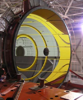 Measurement of large optics, such as this 8-meter primary mirror for the Large Binocular Telescope Observatory, requires metrology systems that can function despite vibration, turbulence and other challenges.