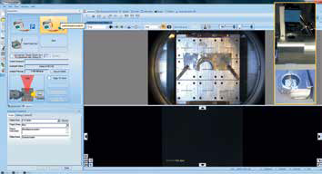 Screenshot of the platter image acquisition, with inlay of the platter view camera configuration.