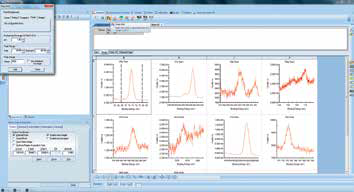 Screenshot of adding peaks to a spectrum.