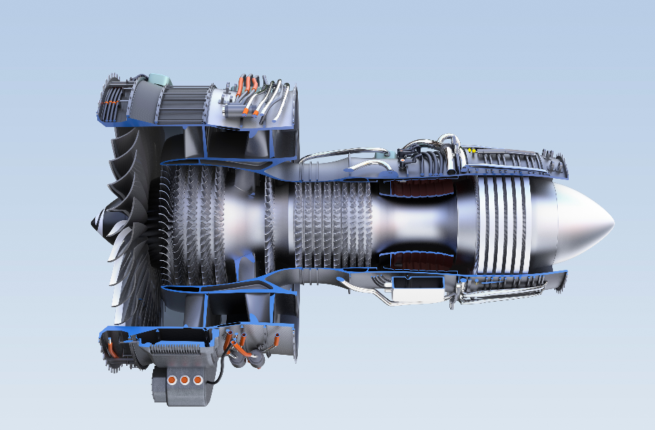 Turbofan Jet Engine.
