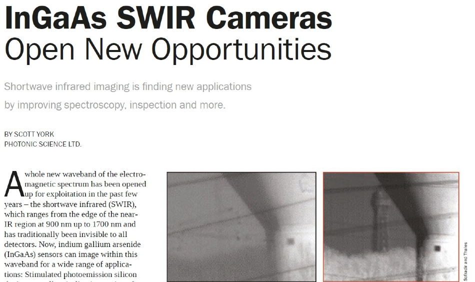 Photonics Media article SWIR cameras.