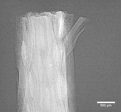 Individual fibers of Kevlar