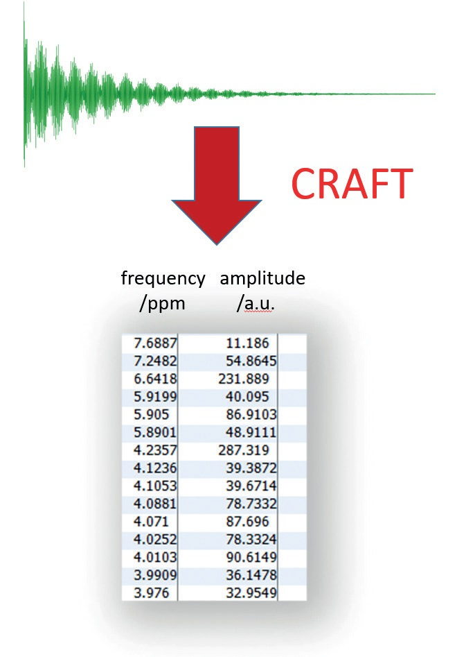 Output from CRAFT: data directly in tabular form
