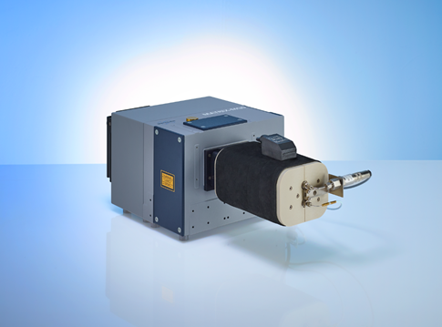 Bruker Optics MATRIX-MG5 spectrometer with heatable gas cell of 5 m optical path length.