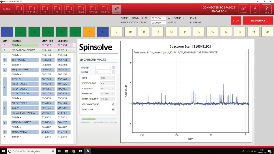 Autosampler for Spinsolve Models