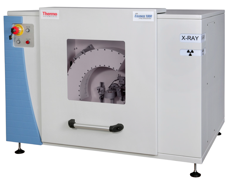 ARL EQUINOX 1000 X-ray diffractometer.