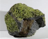 Peridotite sample from Trudy's Mine, San Carlos, AZ, USA.