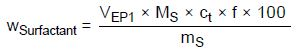 This equation is used for known formulations or raw materials