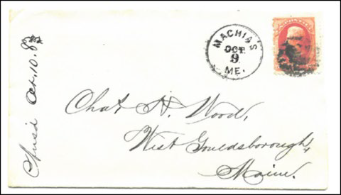Historical Envelope with three unknown ink areas.