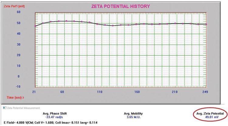 Positively charged alumina abrasive zeta potential.