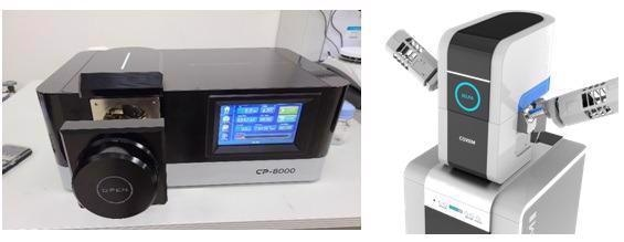 CP-8000 Ion Milling System and Coxem SELPA Particle Analysis System.
